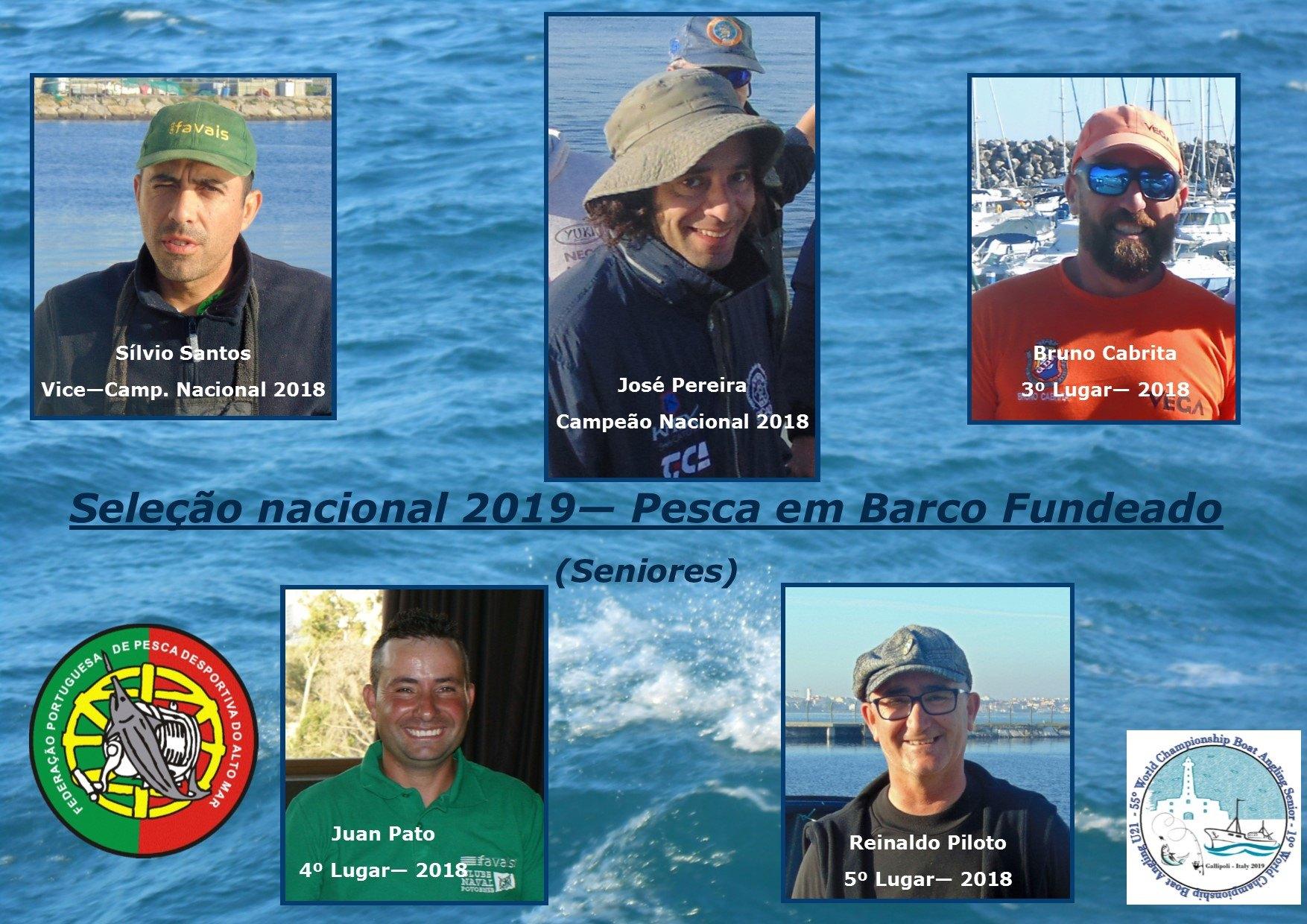 Seleção Nacional - Séniores Pesca em Barco Fundeado